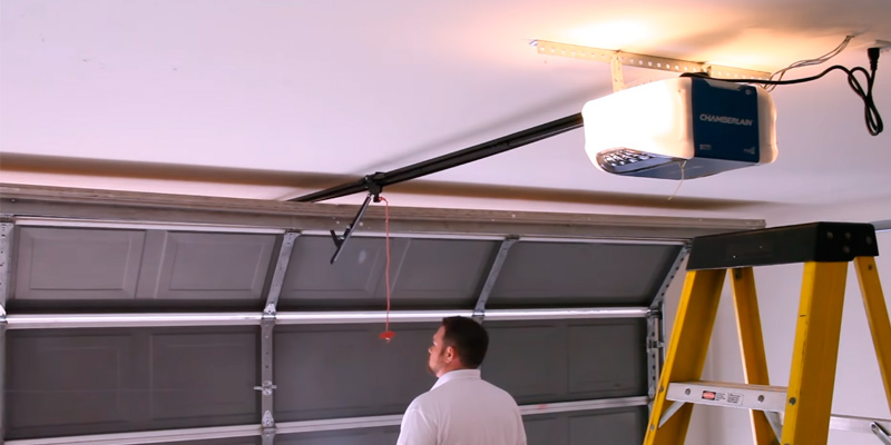 Chamberlain B730 Belt Drive Garage Door Opener in the use