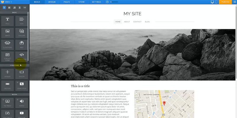 Weebly Website Builder in the use
