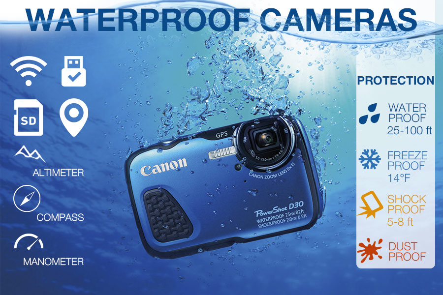 Comparison of Waterproof Cameras for Taking Pictures Underwater