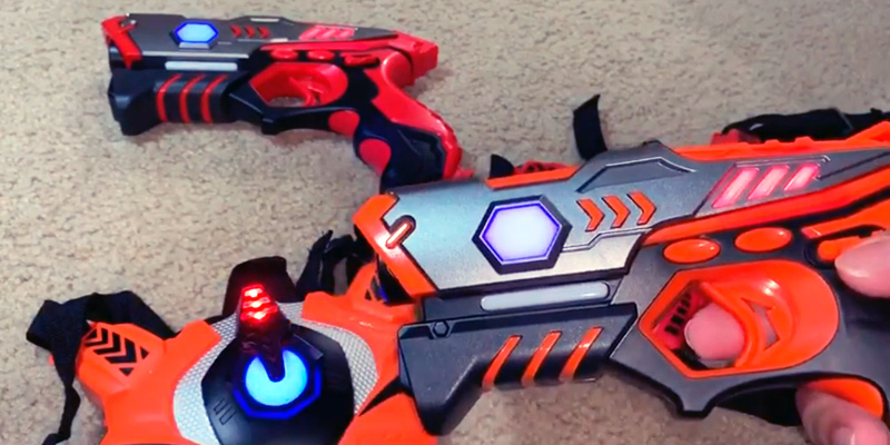 Review of TINOTEEN Infrared Laser Tag Guns Set with Vests