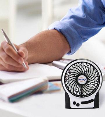 Review of Efluky Mini USB Rechargeable Table Fan
