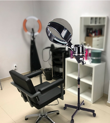 Review of mefeir 600W Professional Salon Hair Steamer Stand Up with Hood