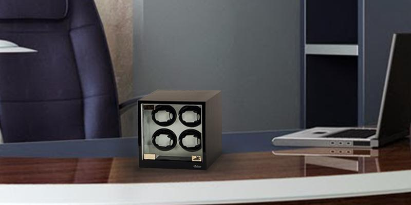 Belocia Four Automatic Watch Winder in the use