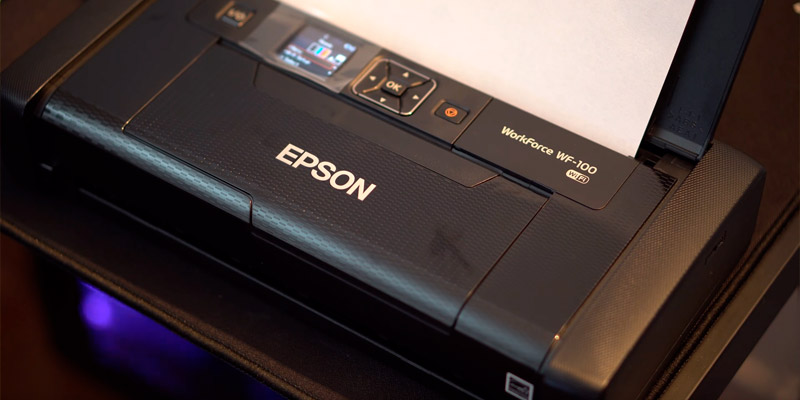 Epson WorkForce WF-100 Wireless Mobile Printer in the use