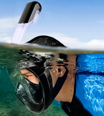 Review of Greatever Newest Version Foldable 180° Panoramic View Snorkel Mask