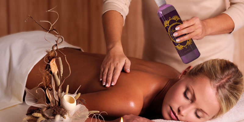 Honeydew Massage Oil with Pure Lavender Oil application