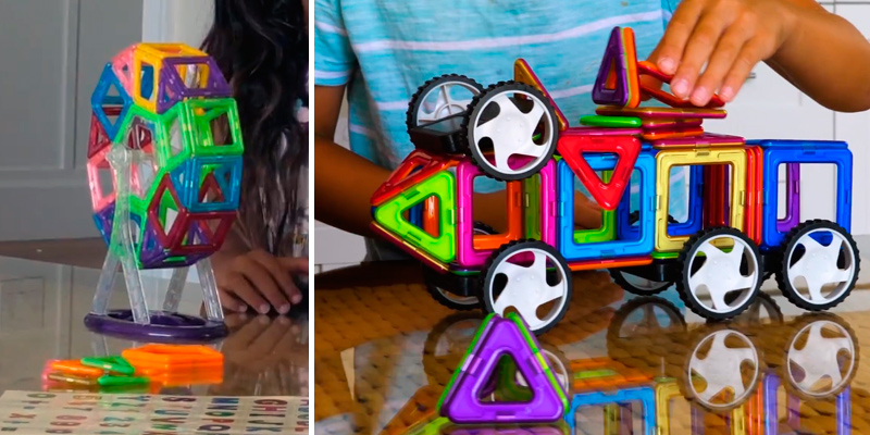 Review of dreambuilderToy Magnetic Tiles Creative Magnetic Building Blocks Set