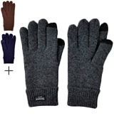 Bruceriver Pure Wool Knitted Men's Knitted Gloves with Thinsulate Lining