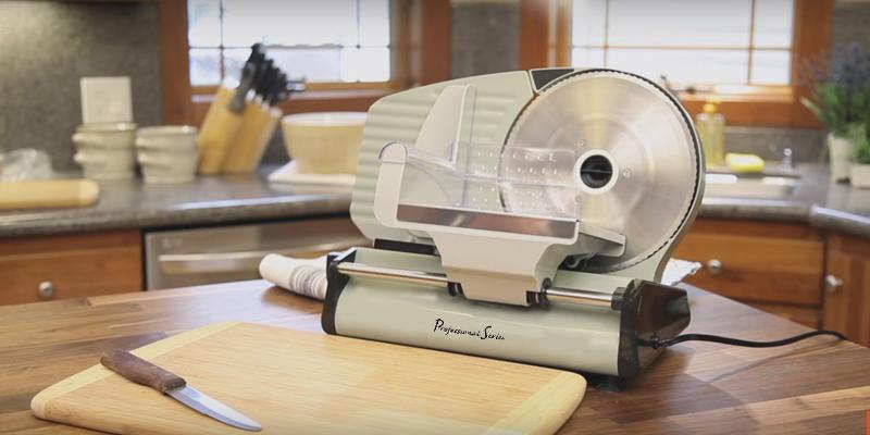 Continental PS77711 Professional Series Deli Slicer in the use