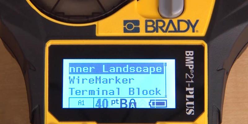 Brady BMP21-PLUS Handheld Label Printer in the use