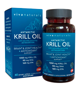 Viva Naturals (1250mg) Antarctic Krill Oil Supplement