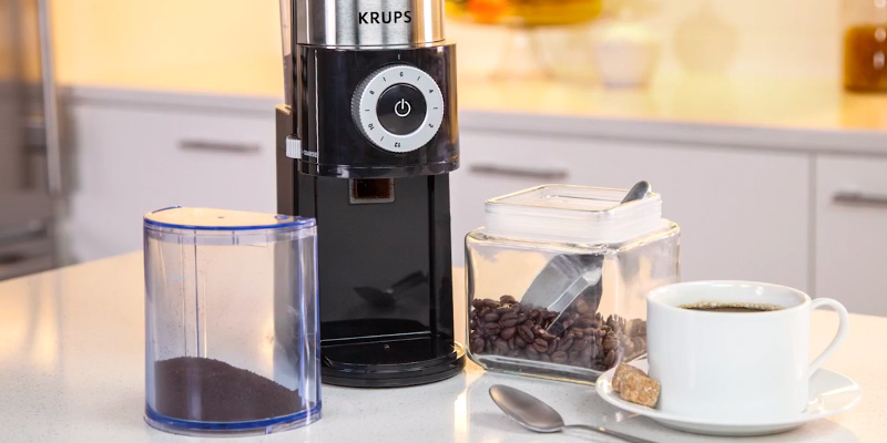 KRUPS GX5000 Professional Electric Coffee Burr Grinder, Black in the use