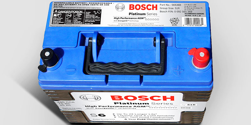 Bosch S6536B S6 Flat Plate AGM Battery in the use