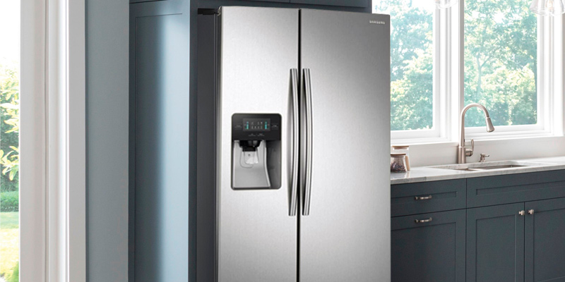 Samsung RS25J500DSR 24.52 cu. ft. Freestanding Side by Side Refrigerator in the use