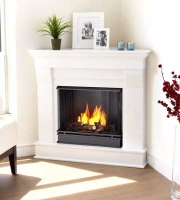 Review of Real Flame 5950-W Chateau Corner Gel Fireplace in White