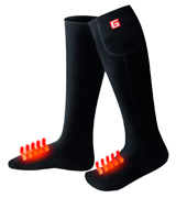 GLOBAL VASION 3.7V Electric Heated Socks with Rechargeable Battery