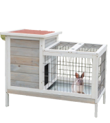 Scurrty Outdoor/Indoor Wooden Rabbit Hutch