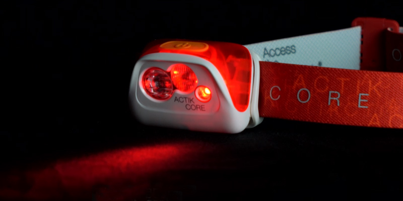 Petzl ACTIK CORE Rechargeable Headlamp in the use