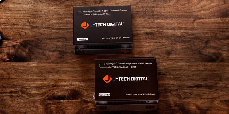 Review of J-Tech Digital (4K-EX-HDBaseT) 4K UHD Bi-Directional HDMI Extender (HDMI 2.0 Over Single Cable CAT5e/6A)