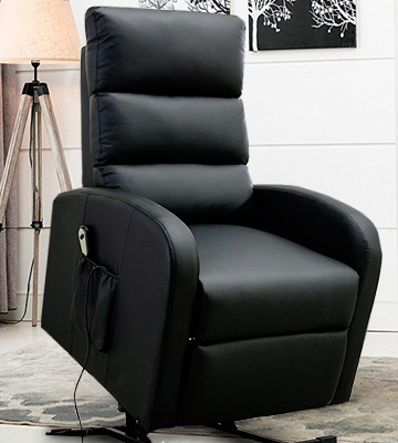 Review of Divano Roma Furniture REC17-1S-BR Classic Plush Bonded Leather Power Lift Recliner