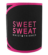 Sports Research Sweet Sweat Waist Trimmer for Men & Women, Pink Logo