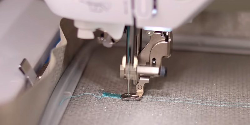 Brother PE800 Embroidery Machine in the use