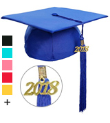 Newrara Unisex Matte Adult Graduation Cap with Tassel