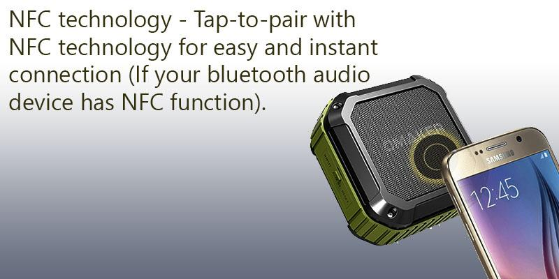 Omaker M4 Portable Waterproof Shower Speaker in the use