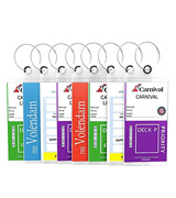 Highwind Cruise-Luggage-Tags Zip Seal & Steel Loops Thick PVC