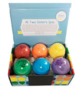 Two Sisters Spa Gender Neutral Surprises Kids BUBBLE Bath Bombs with Toy Surprises