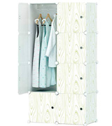 KOUSI 5 Cubes & 1 Hanging Section Portable Clothes Closet Wardrobe