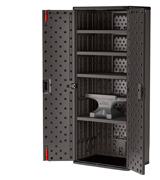 Suncast Commercial BMCCPD7204 Commercial Blow Molded Tall Cabinet in 4 Shelf