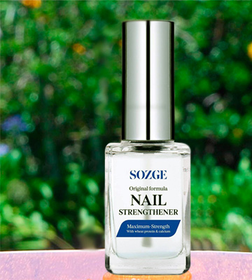Review of SOZGE Original formula Nail Strengthener for Treating Weak, Damaged Nails, Promotes Growth