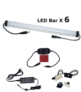 Litever LL-008-6W Under Cabinet LED Lighting Kit