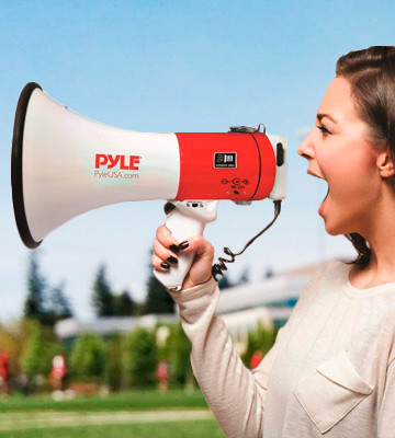 Review of Pyle PMP58U Megaphone Speaker PA Bullhorn - with Built-in Siren