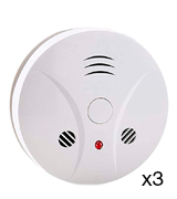 Vitowell (420RCS3PACK) Battery Operated Smoke Detector (3-Pack)