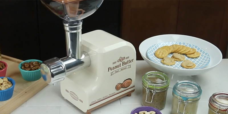 Nostalgia PBM500 Professional Peanut Butter & Nut Butter Maker application