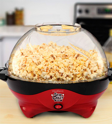 Review of West Bend 8231 Stir Crazy Deluxe Electric Hot Oil Popcorn Popper Machine
