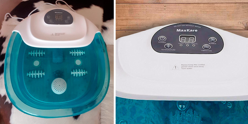 Review of MaxKare SG_B07BT611XV_US Foot Spa/Bath Massager with Heat Bubbles Vibration 3 in 1 Function, 4 Masssaging Rollers Pedicure Tired Feet Stress Relief Help