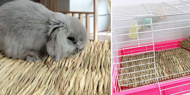 Review of Hamiledyi Grass Woven Mat for Bunny Bedding