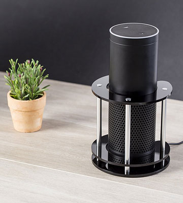 Review of Wasserstein Protect and Stabilize Alexa Speaker Stand for Amazon Echo, Echo Plus, UE Boom and Other Models