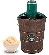 White Mountain PBWMIME612-SHP Wooden Bucket Ice Cream Maker