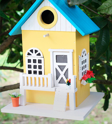 Review of Cartman BH001 Colored Country Cottages Bird House