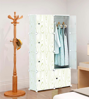 Review of KOUSI 5 Cubes & 1 Hanging Section Portable Clothes Closet Wardrobe