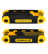 Stanley STHT71839 Folding Hex Keys (17-piece, Inch/Metric)