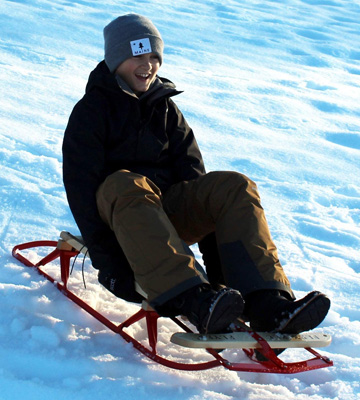 Review of Flexible Flyer Steel & Wood Steering Snow Slider
