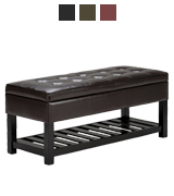 Simpli Home Ottoman Bench for Storage