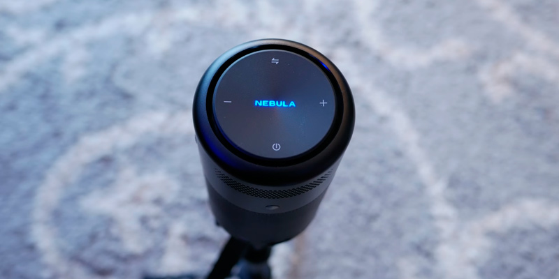 Anker Nebula Capsule Smart Wi-Fi Mini Projector in the use