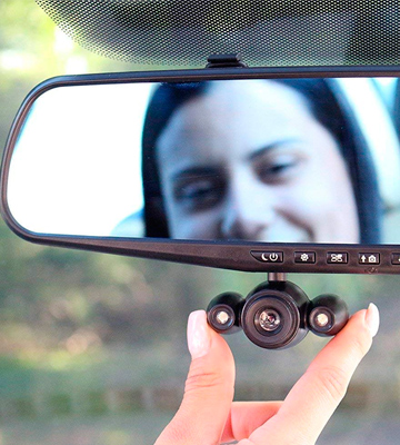 Review of HD Mirror Cam HDMC-MC6/2 Mirror Dash Cam (Front 720p)