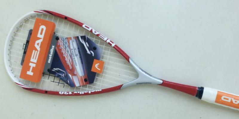 Head Metallix 130 Squash Racket in the use